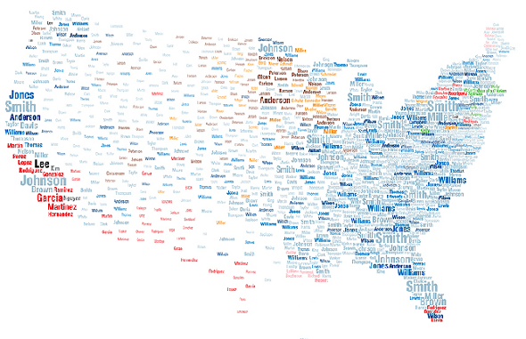 Us Map Last Names National Geographic Made This Interactive