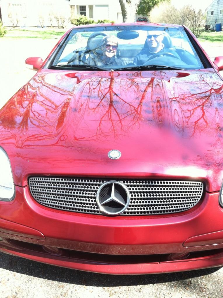 Mr. MVP driving my Mom's car.