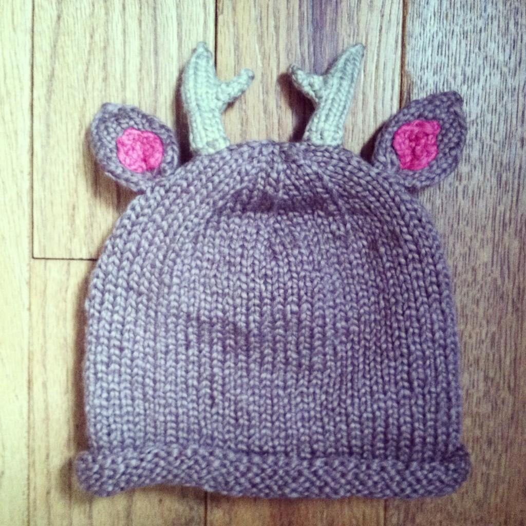 Knitting Pattern Deer Hat : Knitted Deer Hat - Nicole VanPutten